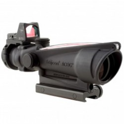 Trijicon 3.5x35mm ACOG Dual Illuminated Scope - Red Chevron .223 Ballistic Reticle 3.25 MOA
