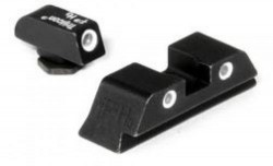 Trijicon 3 Dot Night Sight Set, Green Front & Rear - For Glock 17/17L/19/22/23/24/26/27/33/34/35/38/39 - GL01