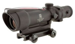 Trijicon TA11F ACOG 3.5x35 Rifle Scope with Red Chevron BAC .223 Flattop Reticle - includes Flat Top Adapter Riflescope