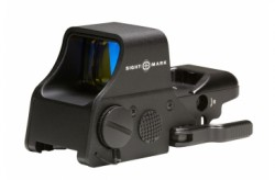 Sightmark Ultra Shot Plus 1x 4 Pattern MOA Reticle Red Dot Sight, CR123A Battery, Black, SM26008