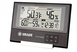 Meade Slim Line Personal Weather Station with Atomic Clock TE256W