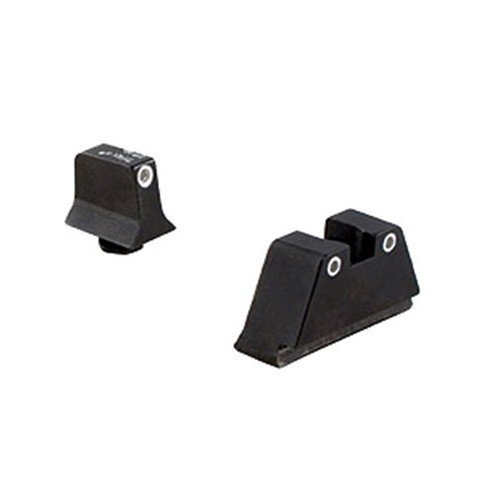 Trijicon Bright and Tough Night Sight Suppressor Set, White Front/White Rear, Green front/Yellow Rear Lamps, Black, 600651