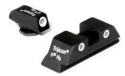 Trijicon 3 Dot High Night Sight Set - Green Front - For Glocks