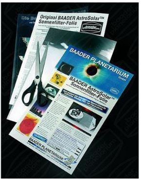 "Baader Planetarium AstroSolar Safety Film 7.9"" x 11.4"" Single Sheet"