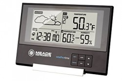 Meade Slim Line Personal Weather Station with Atomic Clock TE346W