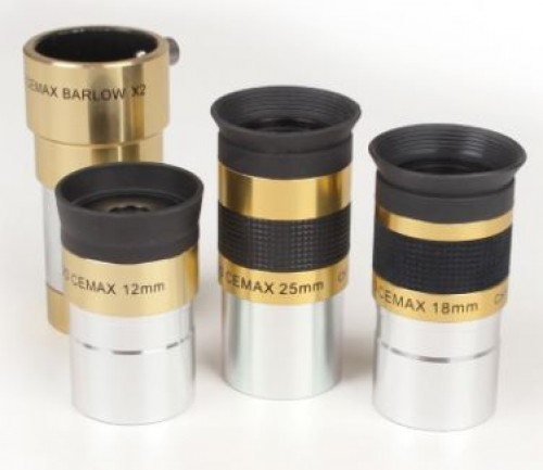 Coronado Instruments CEMAX Complete Set of Contrast Enhanced Eyepieces and Barlow