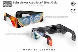 Baader Solar Viewer AstroSolar® Silver/Gold Eclipse Glasses in 100pc counter display. Price is per piece.