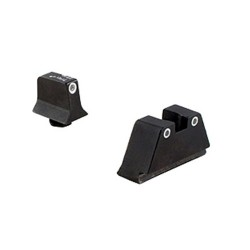 Trijicon Bright and Tough Night Sight Suppressor Set, White Front/White Rear, Green front/Orange Rear Lamps, Black, 600650