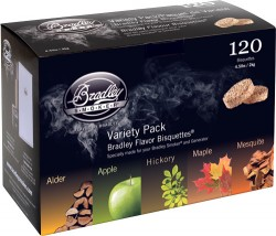 Bradley Variety Pack Flavor Bisquettes Per 120 - Smoke