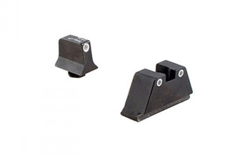 Trijicon For Glock Sup Night Sight w/ Wht Outline/Grn Lamps, White/White, Suppressor Night Sight Set 196578